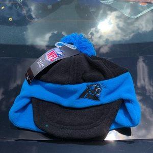 Carolina Panthers Boys NFL Thermal Pom Beanie